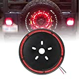 Spare Tire Brake Light Wheel Light 3rd Third Brake Light for Jeep Wrangler 2007-2017 JK JKU YJ LJ TJ,Red Light