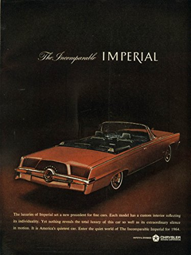 (Extraordinary silence in motion Imperial Convertible by Chrysler ad 1964)