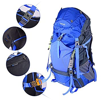 OUTAD Backpack Camping Large 60+5L Capacity Waterproof Mountain Bag for Outdoor  Climbing Walking Trekking Hiking Camping Traveling and Mountaineering  ... 57e9f06f9983d