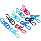 Rustark 50pcs Multi-purpose Windproof Clothespin Wire Clips Clothes Pins for Clothesline Utility, Picture, Notes, Decoration, Poster - 5 Colors