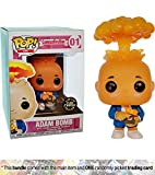 Adam Bomb (Chase Edition): Funko POP! GPK x Garbage Pail Kids Vinyl Figure + 1 Video Games Themed Trading Card Bundle [#001 / 26003]