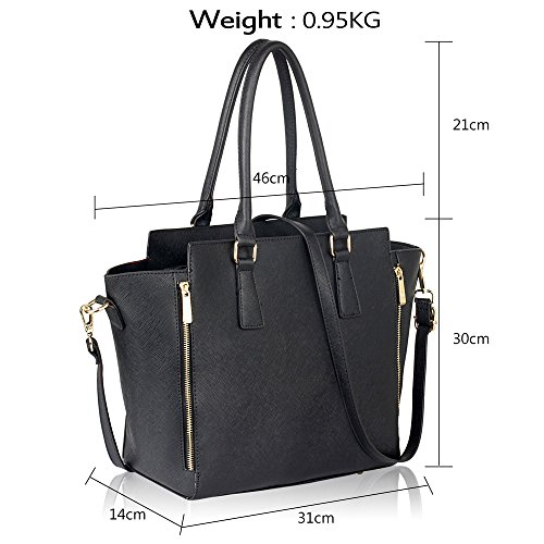 Designer Womens Faux Black Style Fashion Bag Handbag Ladies Shoulder Leather New Tote 7T4w7qz