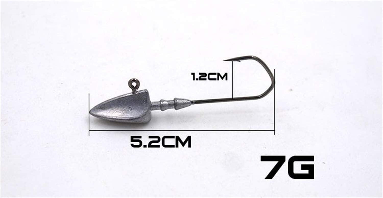 5PCS 3,5 g 5 g 7 g 10 g 14 g 20 g Jigs Se/ñuelos Pesca Cabeza cebos Plantilla Anzuelo trastos Jigheads anzuelos de Pesca Accesorios LMEIQUN tama/ño : 3g