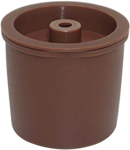 COKFEB Filtro de café 1 unids/Pack Reutilizable de Acero Inoxidable plástico Reutilizable Filtro de café cápsula Recargable Taza para cafetera, café, tamaño: Amazon.es: Hogar