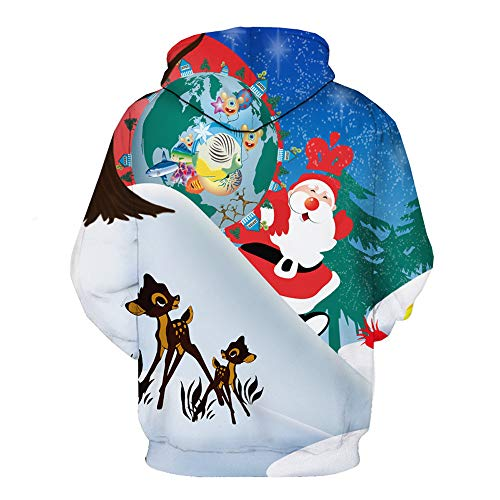 Mens Felpe a 3d Inverno Natale Multicolor Autunno Cime Stampa Bhydry Lunga Sweatershirt Manica rgq7ywrTx5