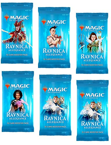 6 (Six) Booster Packs of Magic: The Gathering: Ravnica Allegiance (6 Pack - RNA Booster Draft Lot) (Magic The Gathering Booster Packs For Sale)