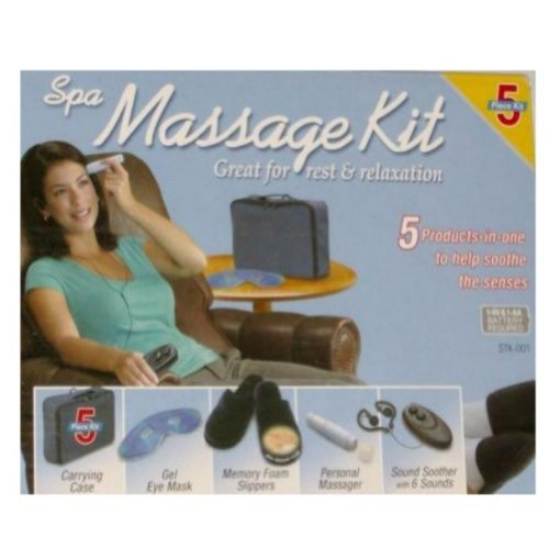 Massage Kit Memory Foam Slippers Sound Spa Massager (Memory Foam Massaging Slippers)