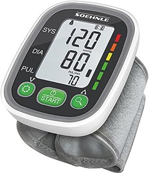 SOEHNLE Systo Monitor 100 - Tensiometro de muneca, ritmo cardiaco, presion arterial, sensor de movimiento, color gris