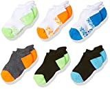 Fruit of the Loom Baby Boys' No Show 6 Pack Sock, Assorted, 4-8.5
