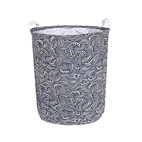 Dirty Clothes Basket Gotd Waterproof Animal Canvas Sheets Laundry Clothes Laundry Basket Storage Basket Folding Storage Box , 50CMx40cm(62L) (Multicolor - Expanded Percussion
