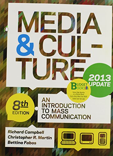 Loose-leaf Version of Media & Culture with 2013 Update 8e & VideoCentral for Media & Culture with 2013 Updat