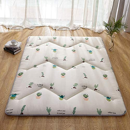 肌-フレンドリーな通気性布団, 5 Cm 厚い 学生寮 ベッド マットレス 家計 畳床を眠っています。-f-5cm 150x200cm(59x79inch)