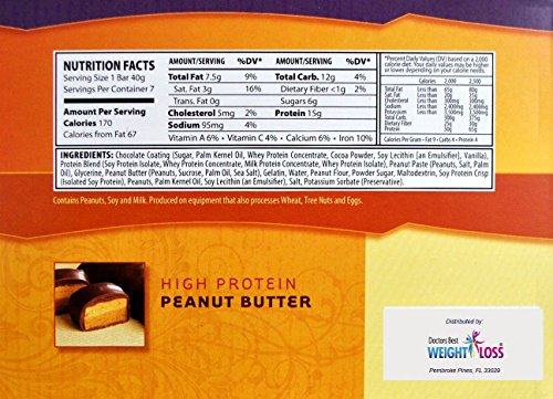 NutriWise - Peanut Butter Diet Protein Bars (7 bars)