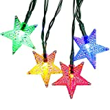 Solar Outdoor Christmas String Lights by ApexPower, 8 Modes 30 LEDs Star Waterproof Lights for Garden, Yard, Home, Landscape, and Holiday Decorations (Multicolored)