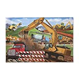 Melissa & Doug Construction Vehicles Jigsaw Floor Puzzle, Beautiful Original Artwork, Sturdy Cardboard Pieces, 48 Pieces, 2' x 3'
