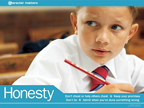 Honesty Laminated Educational Motivational Poster For Elementary School Students