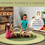 ECR4Kids Natural Hardwood Curved Play Tunnel and
