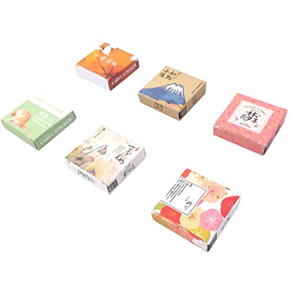 Amazon.com: Kawaii Paper Sticker Set (6 Box, 240 Pieces ...