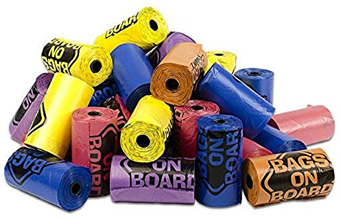 Bags on Board Strong, Leak Proof Dog Poop Pick-up Bags, Rainbow, 840 Bags