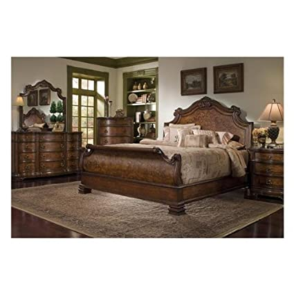 Torricella Collection By Fairmont Designs Queen Sleigh Bed Set With  Nightstand, Dresser, And Mirror
