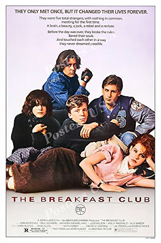 "Posters USA - The Breakfast Club Movie Poster GLOSSY FINISH - MOV952 (24"" x 36"" (61cm x 91.5cm)) from Posters USA"