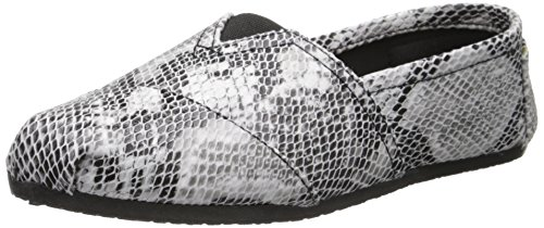 Exotische Kaymann Slip-on Loafer Snake Print Van Dawgs Dames In Zwart / Wit
