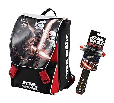 nuovo prodotto 85660 000c1 Star Wars Zaino Scuola Estensibile con Spada in Omaggio , Poliestere, Nero,  44 cm