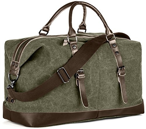 dy-reier-travel-tote-duffel-shoulder-bag-canvas-with-leather-trimming-many-pockets-removable-shoulde