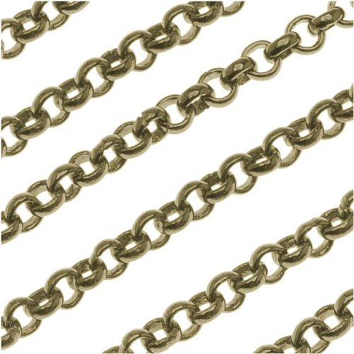 - Beadaholique Antiqued Brass Round Rolo Chain 3mm Bulk by The Foot