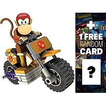Diddy Kong Bike: K'NEX Mario Kart Building Set + 1 FREE Official Mario Trading Card Bundle