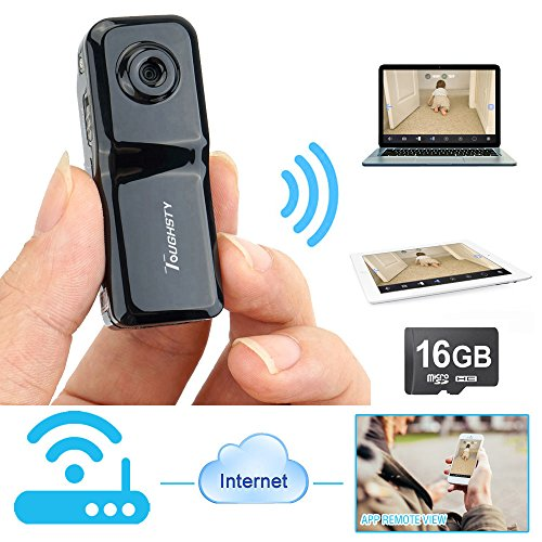 Toughsty 16GB Portable Wifi Hidden Camera Video Recorder Mini DV Action Camcorder for Iphone Android Ipad PC Remote View
