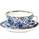 Imperial / Lomonosov Porcelain Teacup and Saucer Set 'Bindweed'