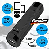 Energizer Backup Battery Power Supply Power Bank Portable Charger Portable Backup Battery Power Supply (33 HOUR FLIP OUT, 2600 mAh)