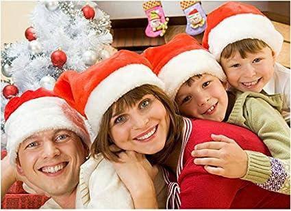 TDCQ Gorro de Navidad Tejido,Gorro de Pap/á Noel de Felpa,Gorro de Pap/á Noel,Sombrero de Santa de Navidad,Sombrero de Navidad a Rayas