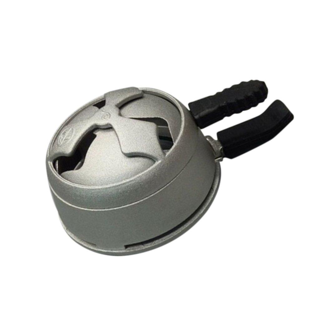 Providethebest en Alliage daluminium Kaloud Charbon Porte Br/ûleur /à Shisha Narguil/é Bowl Hookah Head Heat Keeperargent