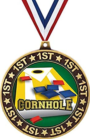 1st Place Cornhole Medals Perfect for Field Games Tailgating Prime Field Day Crown Awards Cornhole Medals BBQ Family Reunions