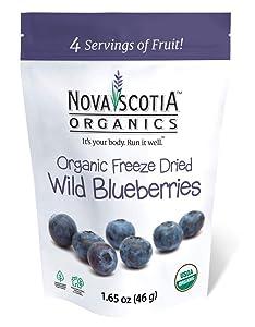 Nova Scotia Organics Freeze Dried Wild Blueberries Family Snacker (3 x 46g)