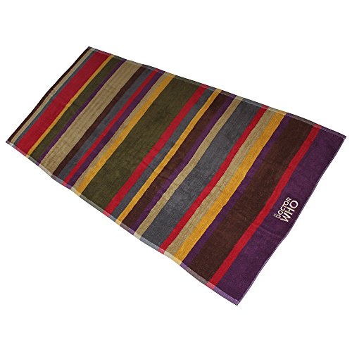 Doctor Who Cotton 4th Doctor Bath Towel (Striped, 55