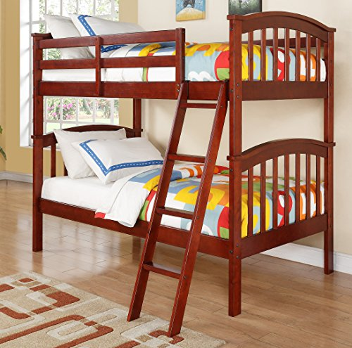 DONCO Kids 311-CH Arch Mission Bunk Bed, Twin/Twin, (Mission Youth Loft Bed)