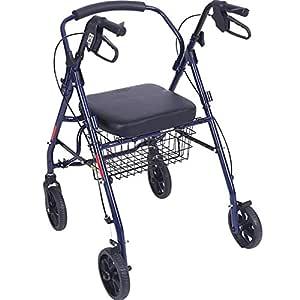H.Slay Andadores Andador para Ancianos De 4 Ruedas Aluminio ...
