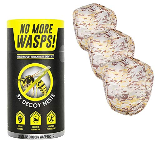 Luigi's Wasp Deterrent - Repel Wasps with a Fake Nest (3 Pack of Decoy Wasp Nests)