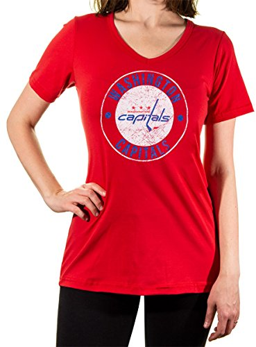 NHL Ladies Official Team V-Neck Cover Up Shirt (XX-Large, Washington Capitals)