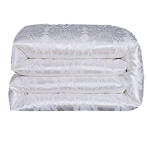 Mulberry Silk Comforter - Hxiang Pure Mulberry Silk Comforter Silk Duvet Silk Quilt Silk Filled Comforter Doona Blanket Coverlet Bedspread for King Size Winter Season use (Queen, White)