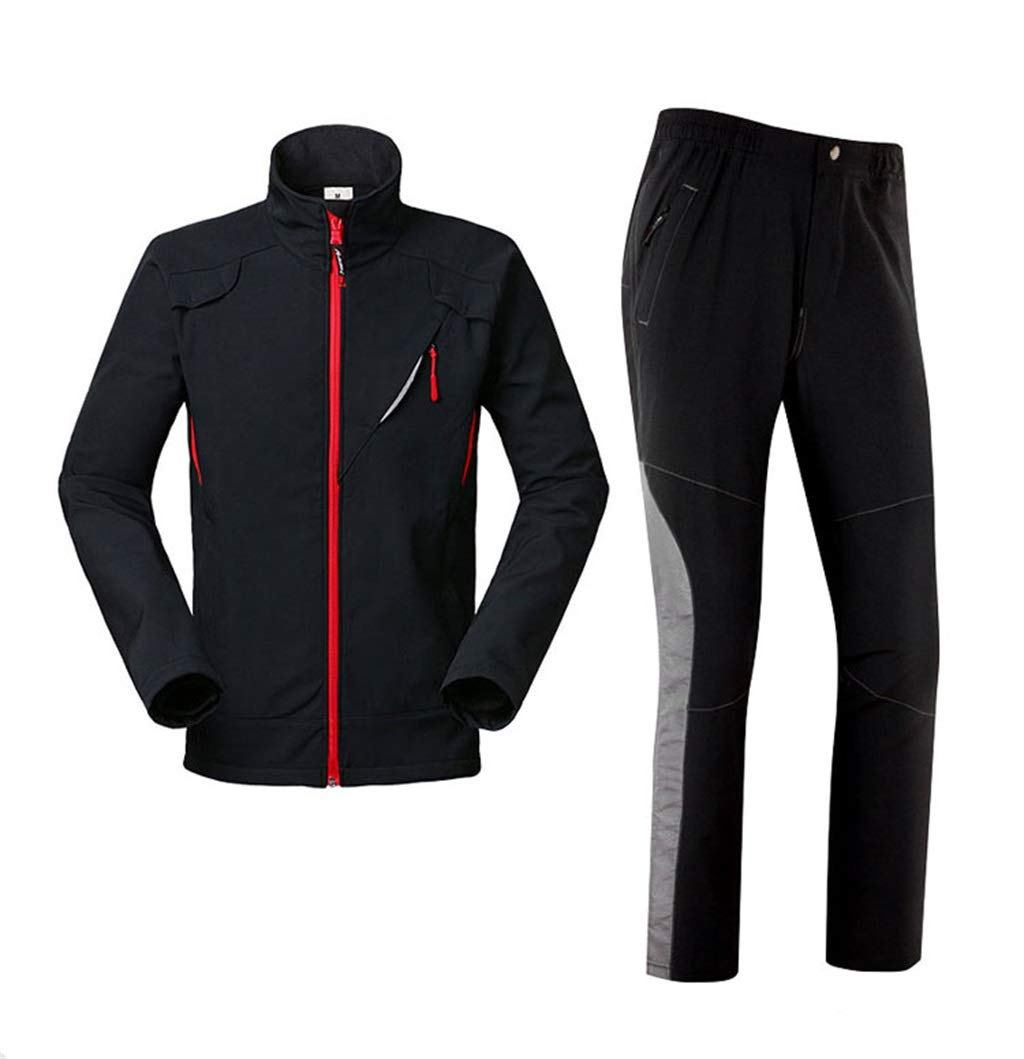 Rainsuit Breathable Rain Jacket and Rain Pants Set Unisex Reusable Rainwear Waterproof Raincoat for Collective Outdoor Activities Climbing