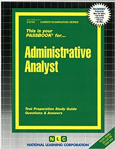 Administrative analystpassbooks career examination series c administrative analystpassbooks career examination series c 2144 jack rudman 9780837321448 amazon books fandeluxe Choice Image