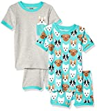 Spotted Zebra Kids 4-Piece Snug-Fit Cotton Pajama Short Set, Puppies Small (6-7): more info