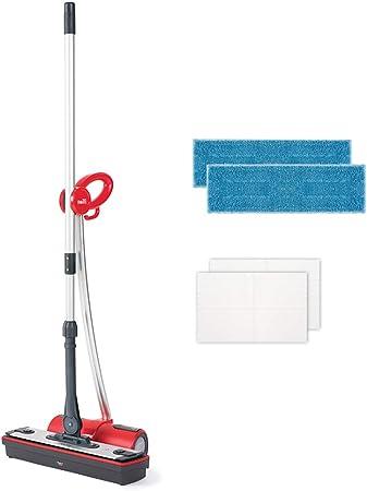 Polti Moppy Limpiador de suelos con vapor sin cables para todo tipo de suelos y superficies verticales lavables, 1500 W, Rojo: Amazon.es: Hogar
