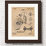 Original Racing Bicycle Patent Art Poster Print - 11x14 Unframed - Great Wall Art Decor Gifts for Cyclists, Tri-Athletes, Man Cave, Garage, Boy's Room, Repair Shop, Office.