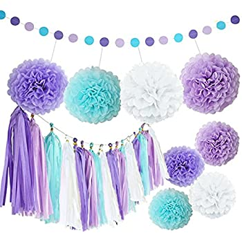 Amazon.com: Mermaid Party Decorations Wedding Party Decorations ...