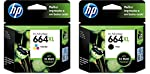 Kit Cartuchos HP 664XL Preto + 664xl Tricolor